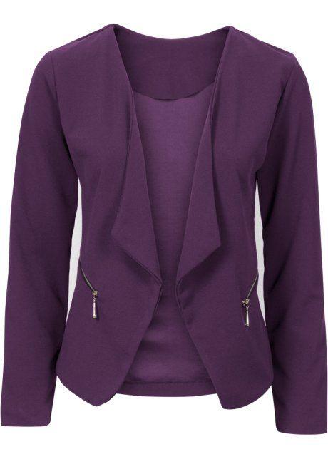 Bonprix Blazer jasje colbert  BODYFLIRT, donkerpaars blazer jacket dark purple