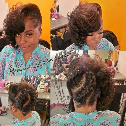 Terrific 1000 Ideas About Black Wedding Hairstyles On Pinterest Wedding Short Hairstyles For Black Women Fulllsitofus