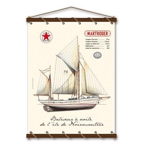 """Martroger """"Baliseur à voile de l'île de Noirmoutier"""""""