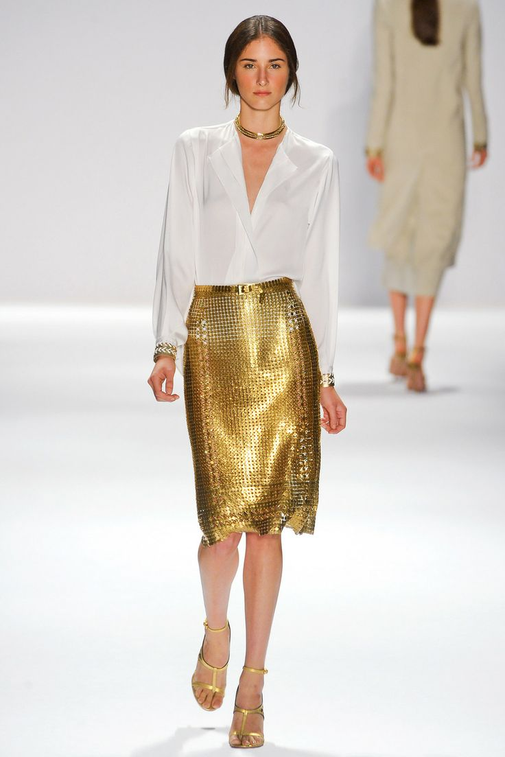 @Karmien Roux Roux Nys Tahari Gold Skirt