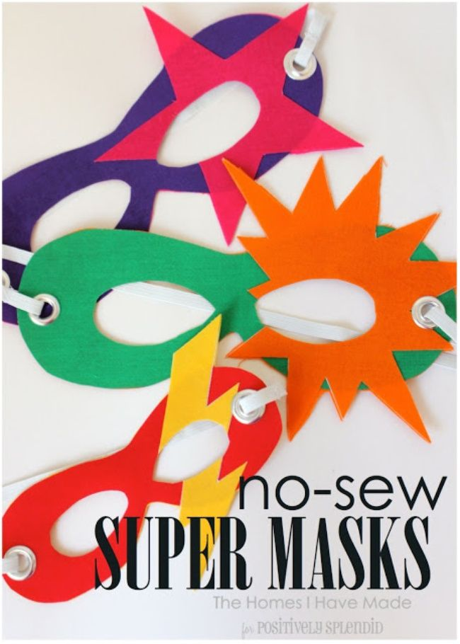 No-Sew Superhero Masks