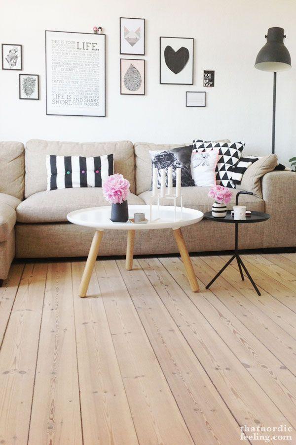 Thatnordicfeeling.com - Wohnzimmer Couchtisch Dreibein Bilder ähnliche tolle Projekte und Ideen wie im Bild vorgestellt findest du auch in unserem Magazin