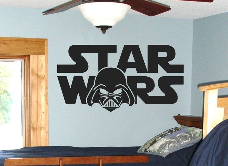 Star Wars Wall Decal / Darth Vader Wall Art / Boys Room Decor / Darth Vader Star  Wars Art / Darth Vadar Wall Decal