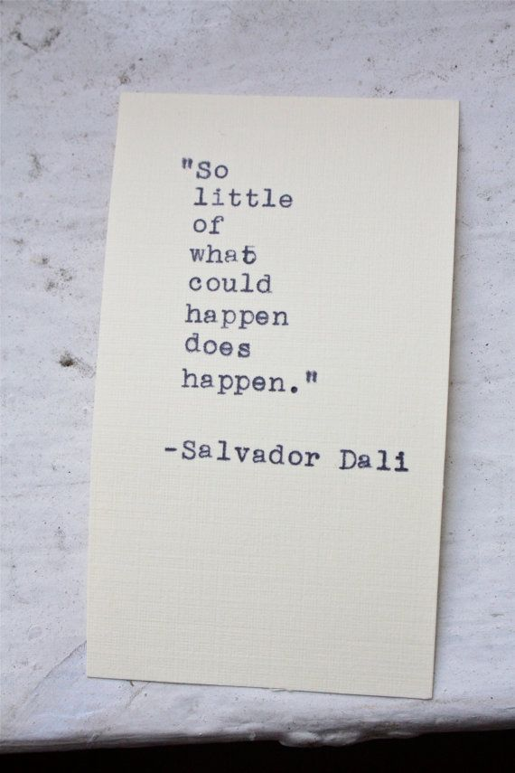 Salvador Dali quote typed on a vintage typewriter