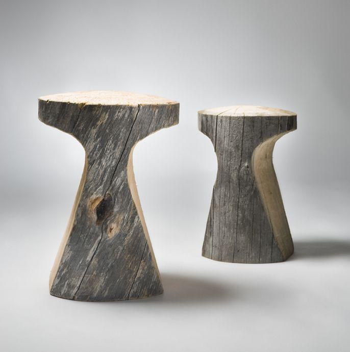 Arte, escultura en madera. #art #designlog stools