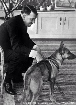 Mr. Adolf Hitler and his best friend, the sweet Blondie.