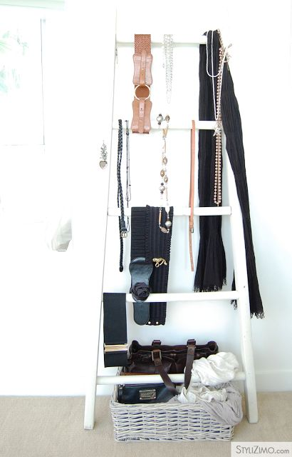 STYLIZIMO BLOG: { 5 ways to decorate with a ladder }