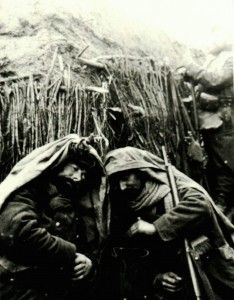 WW1,  Two Poilus sleeping in a trench,  image issue des collections de…