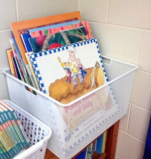 Top 10 Organizational Items For Your Classroom! Love the idea for big book storage!!
