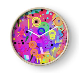 I once was happy #wallclock by Silvia Ganora Use code IWANT20 to get 20% off everything for 24 hours!   #redbubble #discount #apparel #pillows #throwpillows #totebags #wallclocks #clocks #prints #mugs