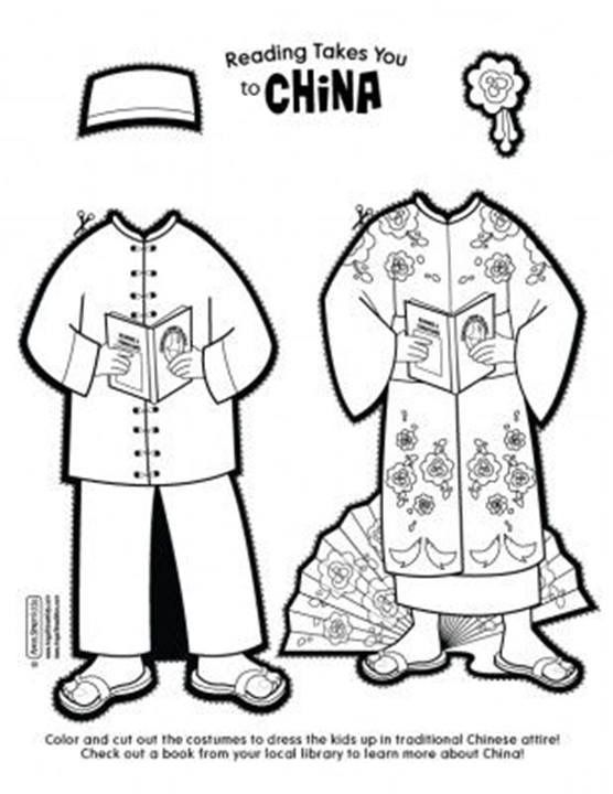 china dolls coloring pages - photo#4
