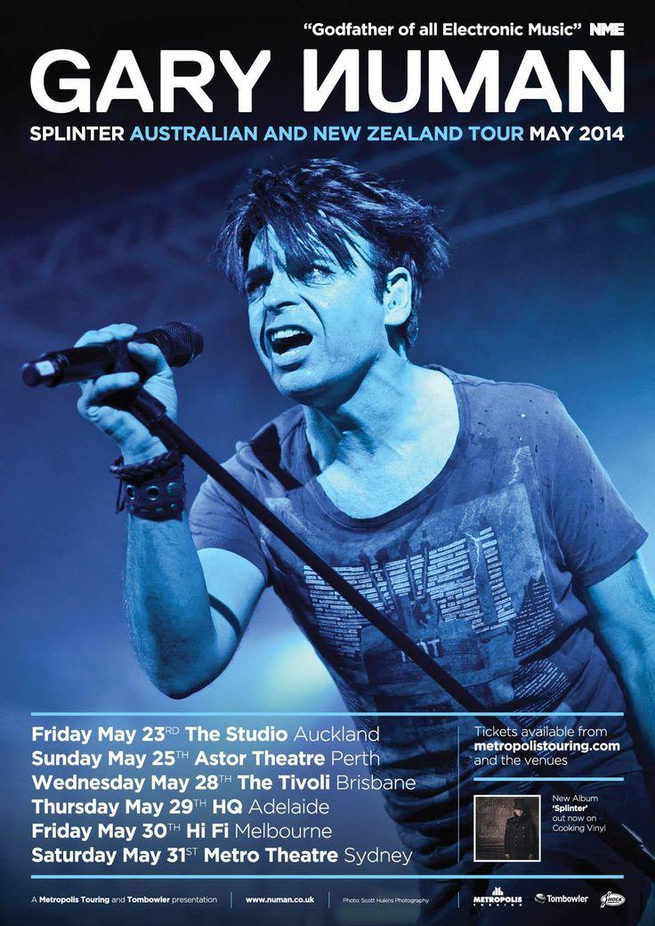 Gary Numan Australian Tour Poster 2014