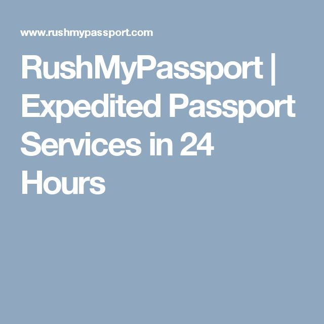 RushMyPassport | Expedited Passport Services in 24 Hours