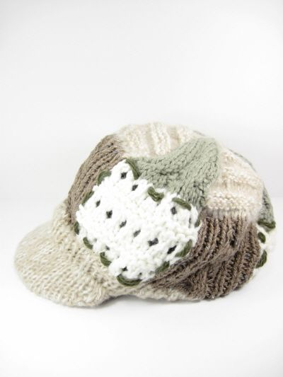 SHABBY CHIC KNIT CABBY HAT