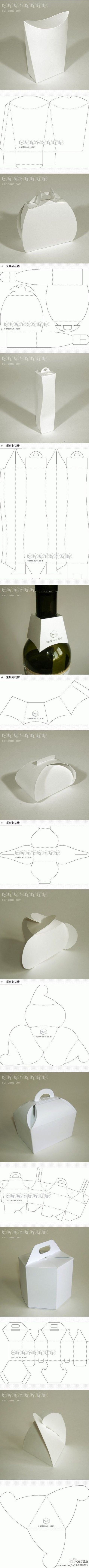 Creative packaging template compilation ~~~ small visual China!  DIY Queen (turn)