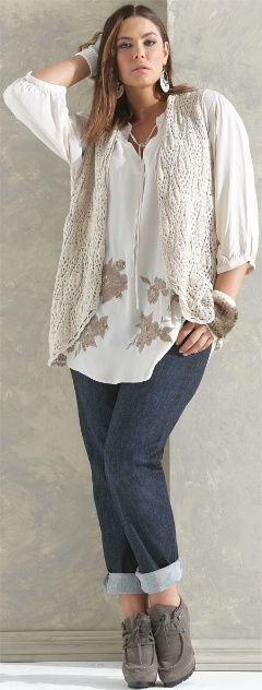 FOLKLORE FLOWER SMOCK## - Tops - My Size, Plus Sized Women's Fashion & Clothing-minus the gloves.