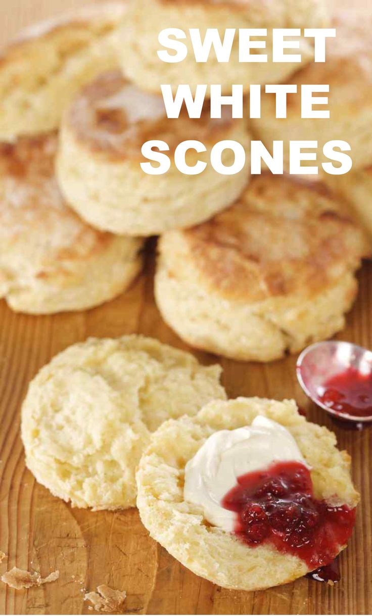Sweet White Scones | Martha Stewart Living - Serve these mouthwatering scones with clotted cream and raspberry jam for an indulgent addition to your brunch.