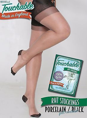 d5b057c7f3d75 RHT Full Contrast Stockings - Porcelain / Black Extra-Large by Touchable