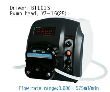 360.00$  Buy here - http://alir6x.worldwells.pw/go.php?t=2053222928 - Cheap BT101S YZ15 ABS Plastic Small Easy Variable Flow Speed Peristaltic Dosing Pump Lab Industrial Pump Fluid  0.006-420ml/min