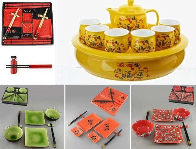 Восточная посуда для суши и чайной церемонии