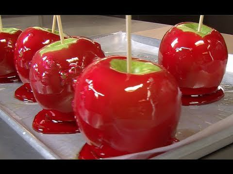 How to Make Perfect Candy Apples  craft idea? to eat later - we will have a full kitchen in hotel room