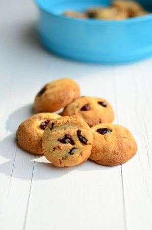 Cranberry Koekjes met Witte Chocola - Uit Pauline's Keuken
