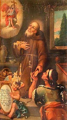 """5/21: Saint Crispin of Viterbo (1668-1750) - Crispin used to call himself the ass or beast of burden of the Capuchins, and, having on one occasion been asked by a stranger why he went bare-headed, Crispin answered, that """"an ass does not wear a hat."""""""