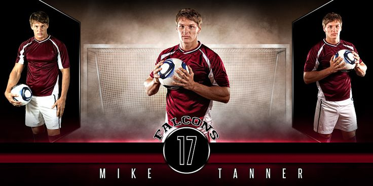 10x20 Photo Template - Fantasy Soccer - Photoshop Layered Sports Template