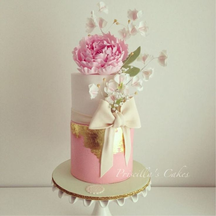 59 best Coral Pink Wedding Cakes images on Pinterest Coral