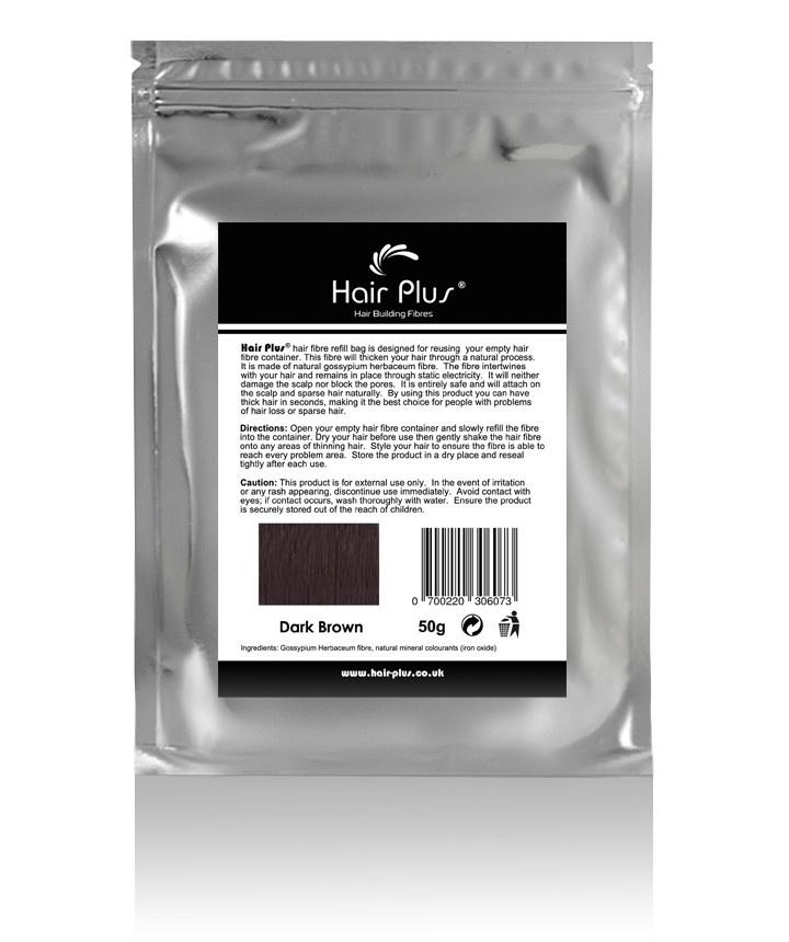 Dark Brown Hair Fiber Refill Bag...