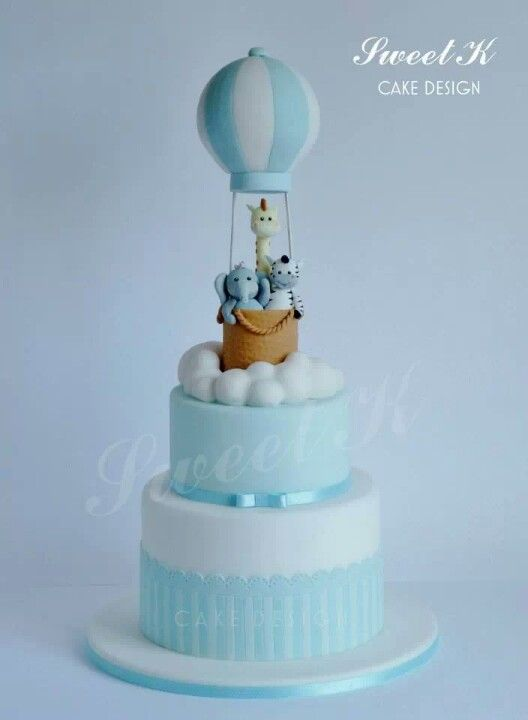 Cake Design Ballarat : Hot air balloon cake - SUPER CUTE Baby Shower Cakes ...