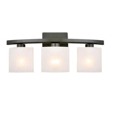 Hampton Bay Ettrick 3 Light Oil Rubbed Bronze Sconce