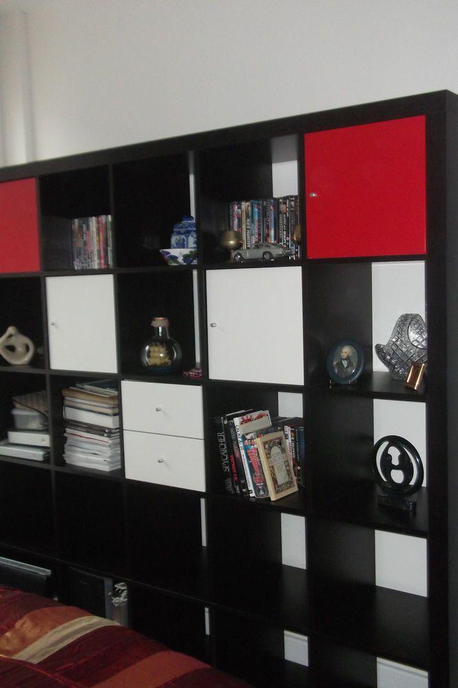 IKEA EXPEDIT BLACK BOOKCASE / STORAGE UNIT