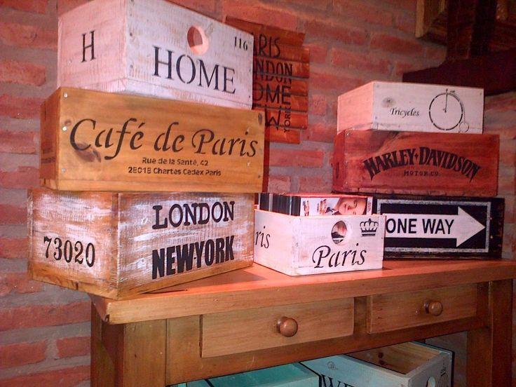 Cajones De Maderas Recuperadas Estilo Vintage-antiguos - $ 120,00 en MercadoLibre