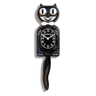 Kit Kat Felix Cat Black Moving Eye Tail Tick Tock Wall Clock Vintage Rolling 50s