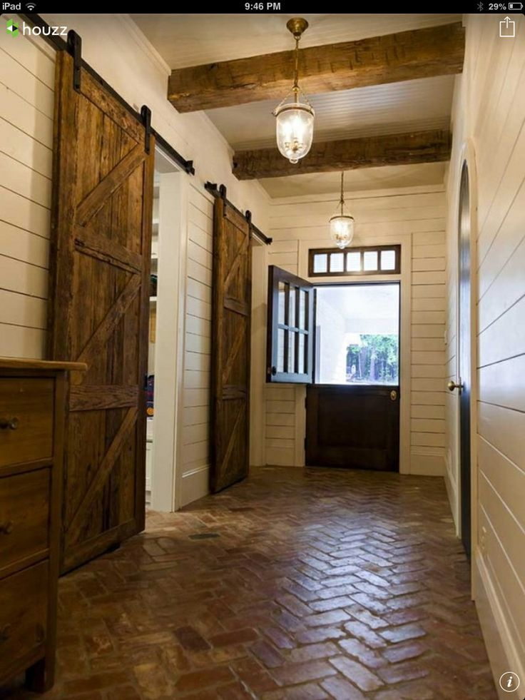 barn doors  brick floors  great lines