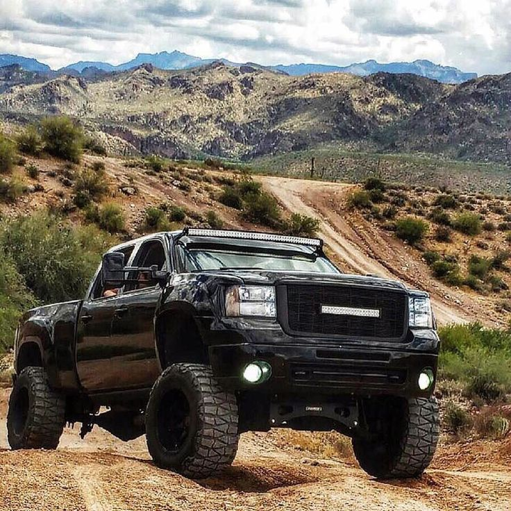 Lifted Gmc Sierra >> #GMC #Sierra #Denali HD #Lifted #Jacked #4x4 #OffRoad #Modified with light bars and aftermarket ...