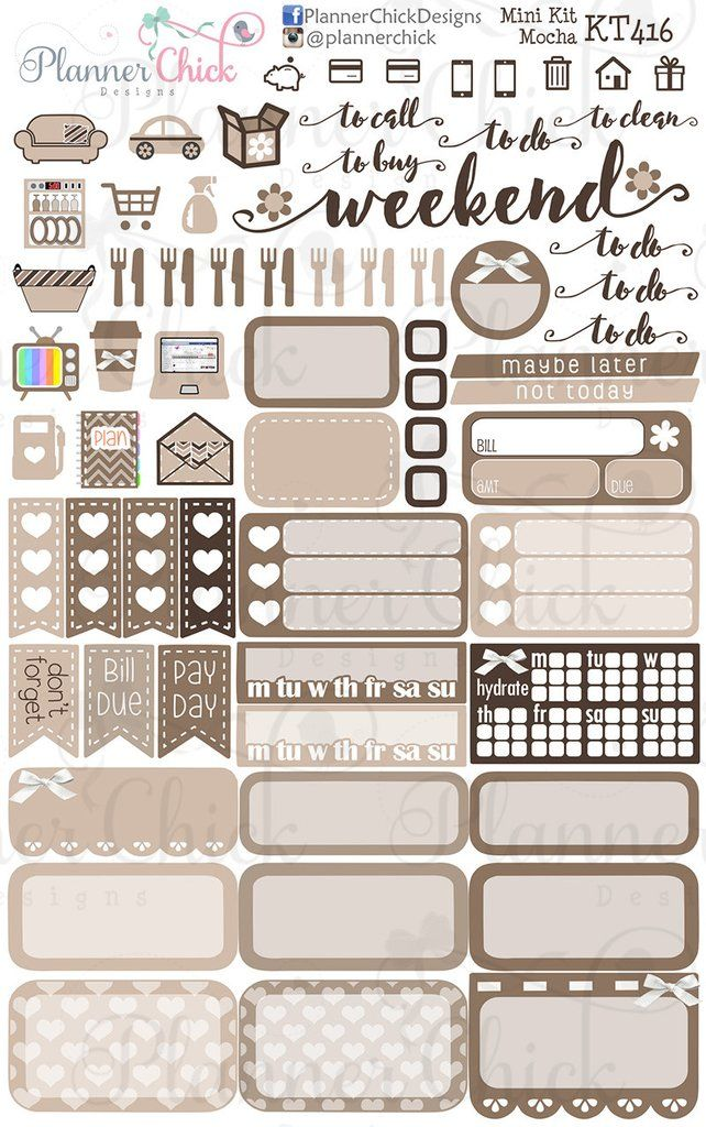 Planner stickers. Fits perfectly in the vertical Erin Condren Life Planner and the Happy Planner!