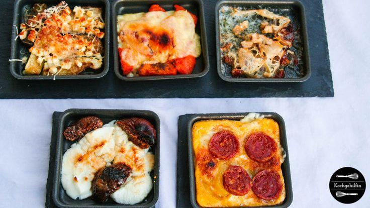 5 neue Ideen für euer Raclette Essen: Pfännchen mit Kürbis, Chorizo, Blauschimmelkäse, Aubergine und Feige. Pimp my Raclettepfännchen!