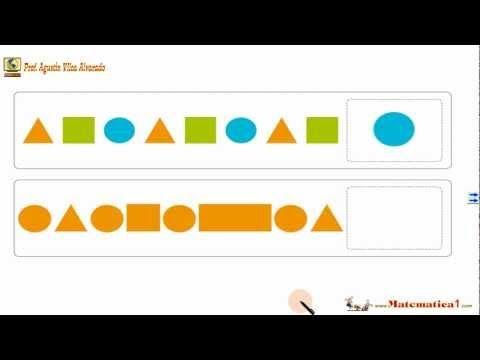 Seriaciones , Patrones y Secuencias con Figuras-Matemáticas Niños 5 ó 6 ó 7 años-Ejercicios - YouTube