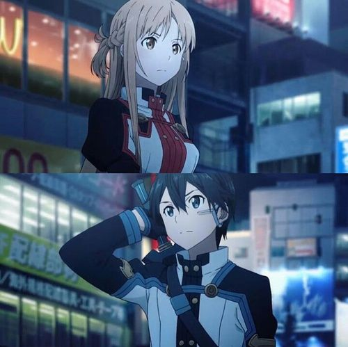asuna, sword art online ordinal scale, and kirito  SUCH A GOOD MOVIE!!