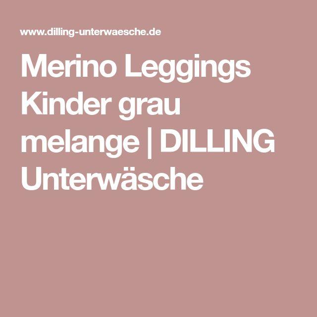 Merino Leggings Kinder grau melange | DILLING Unterwäsche