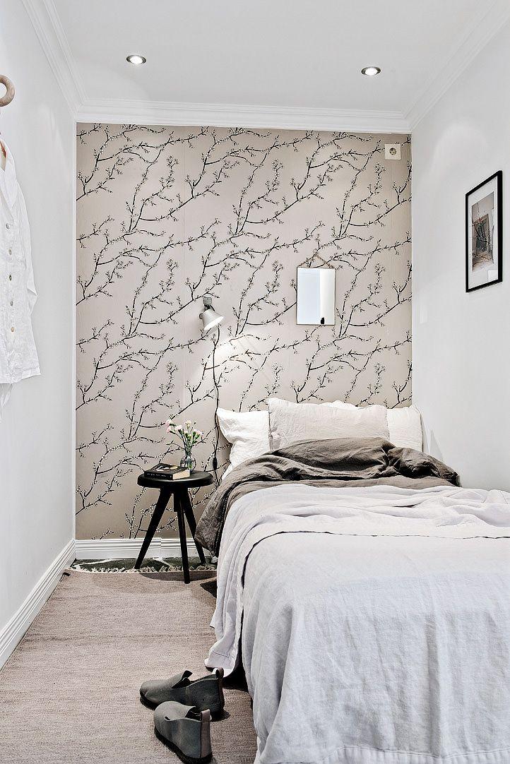 шведский интерьер спальни