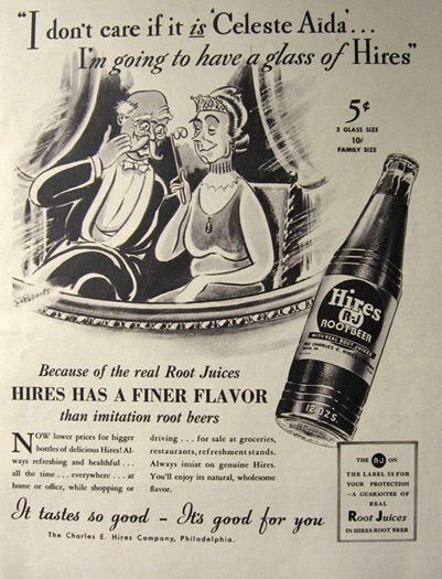 1937 Hires Root Beer Ad