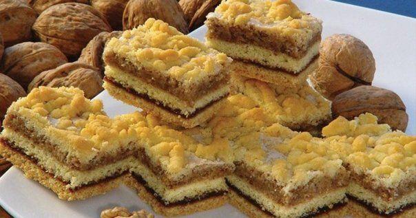Prajitura de casa la indemana oricarei gospodine - Prajitura frageda cu crema de nuci si gem - Usor de pregatit