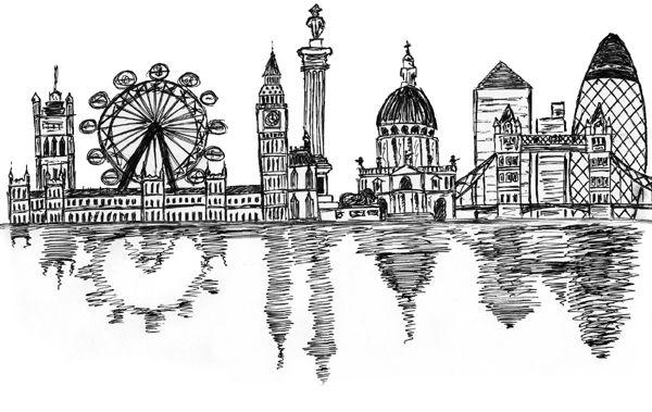 Skyline Sketch by mark45cmd on deviantART
