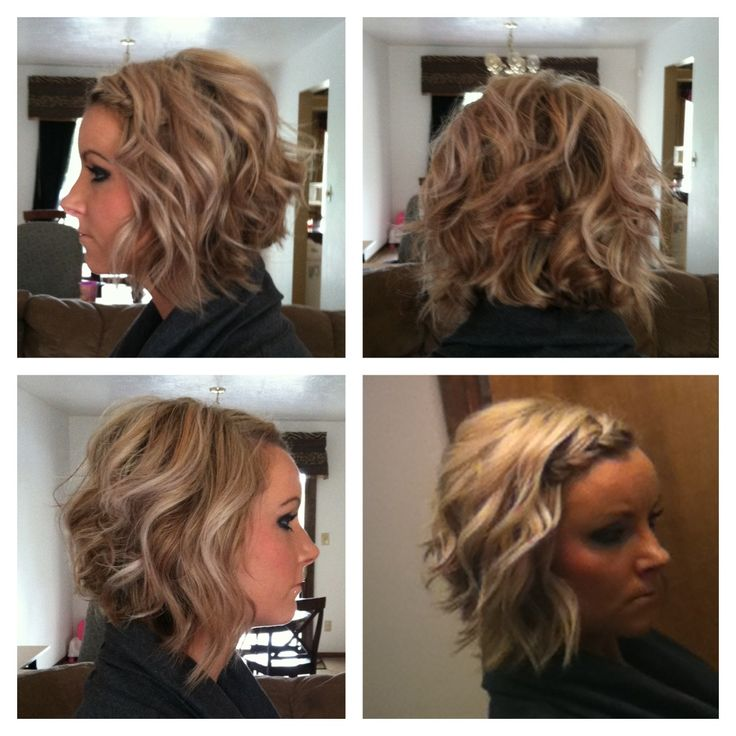 Angle bob w/waves. What my hair would realistically look like