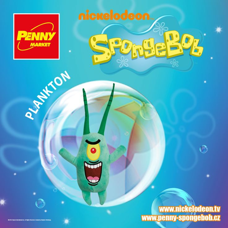 SpongeBob umí připravit ty nejlepší krabí hambáče, což ví každý v podmořském světě. Plankton se ale snaží všechny jeho tajné recepty získat. Nejraději by uměl hamburger z Křupavého kraba připravit tak, jako to dokáže SpongeBob!  Sbírejte známky za nákupy v Penny a získejte plyšového Planktona! Za každých 200 Kč nákupu dostanete 1 známku. Více informací o známkách a cenách SpongeBoba a jeho kamarádů najdete na www.penny-spongebob.cz.