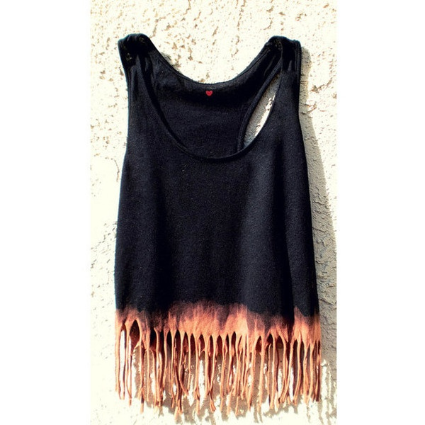 Etsy Transaction - Crop Tank Boho Hippy Dip Dyed (Black, Small-Med)... ❤ liked on Polyvore