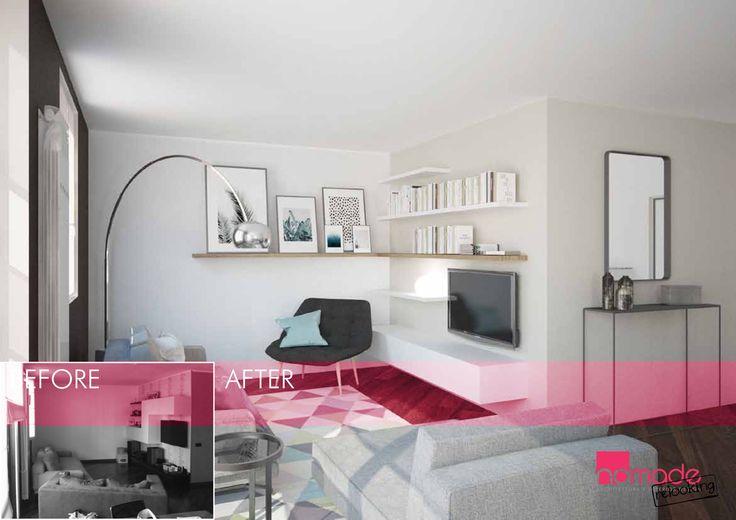 Un appartamento arredato con i mobili della casa precedete, che non soddisfa...ecco che fare! #nomaderelooking #nomadearchitettura#relooking#ristrutturare #interiors#interiordesign #italiandesign #livingroom